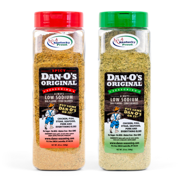 Dan-O's Big Bottle Combo - 20 oz bottle of Dan-O's original and spicy blends