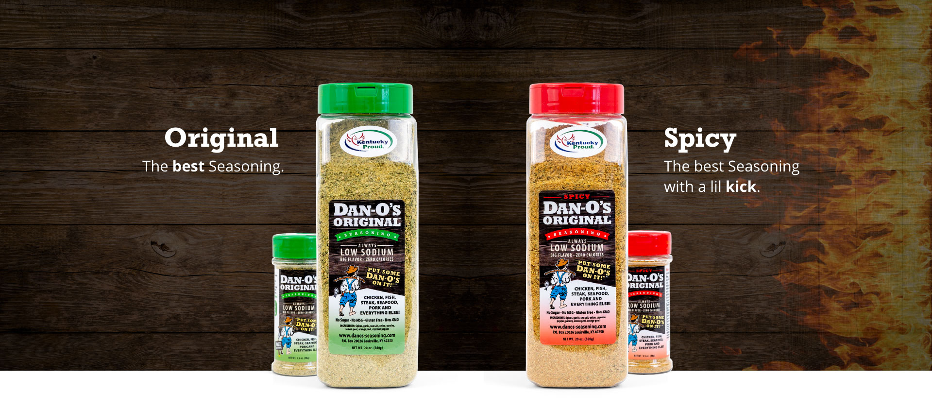 Dan-O's Original and Spicy Seasonings Bottles - All Variants