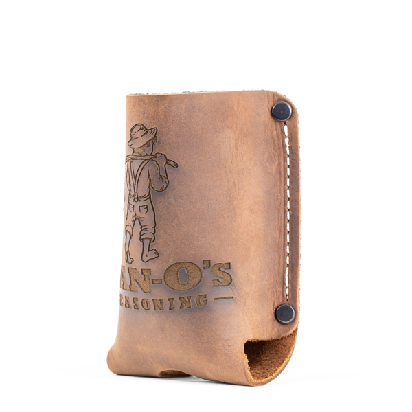 Image of leather seasoning holster - side view