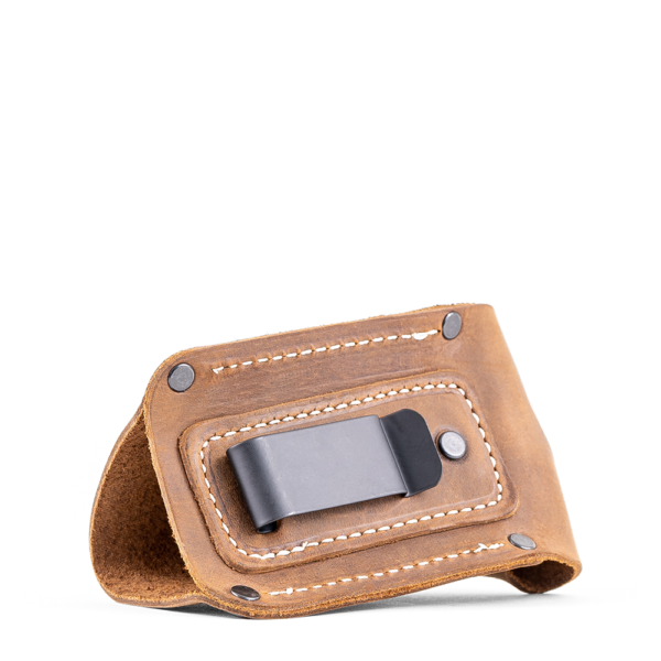Image of clip on leather seasoning holster