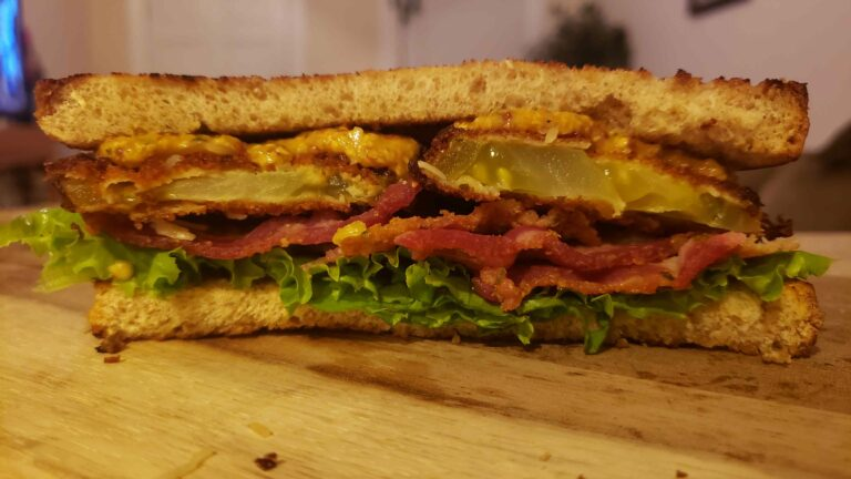 Image of fried green tomato BLT