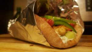 Image of homemade chicken gyro