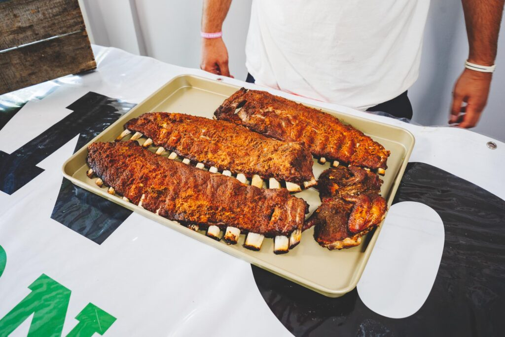 Image of smoked ribs after cooking