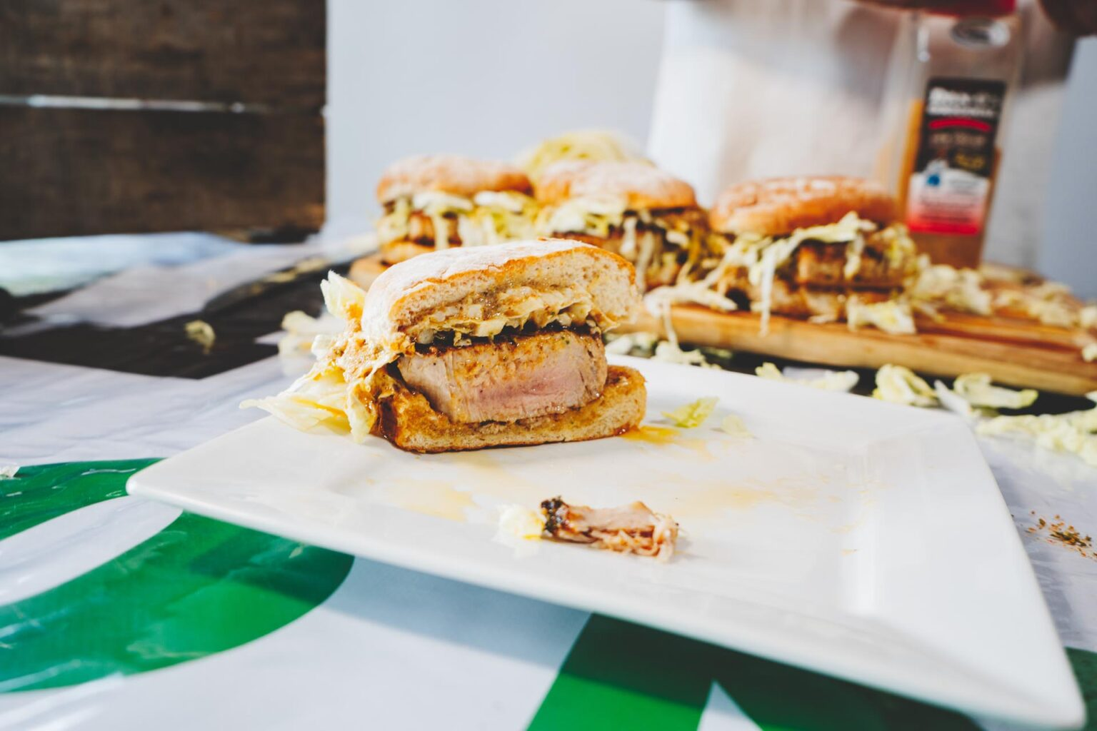 Image of Tuna Steak Sandwich on plate