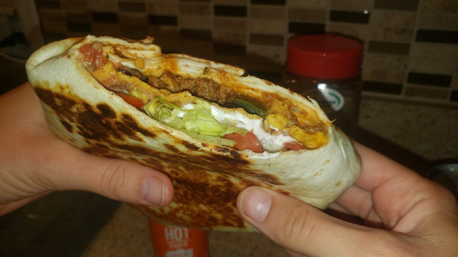 Image of a homemade crunchwrap supreme