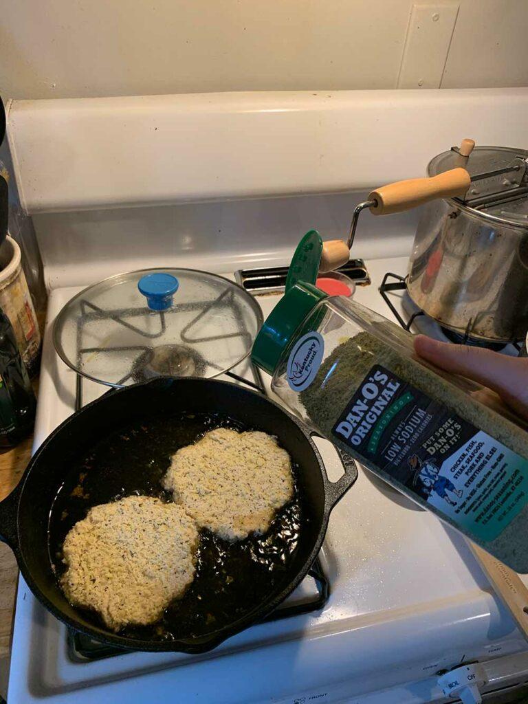 Making Shnitzel with Dan-O's Seasoning