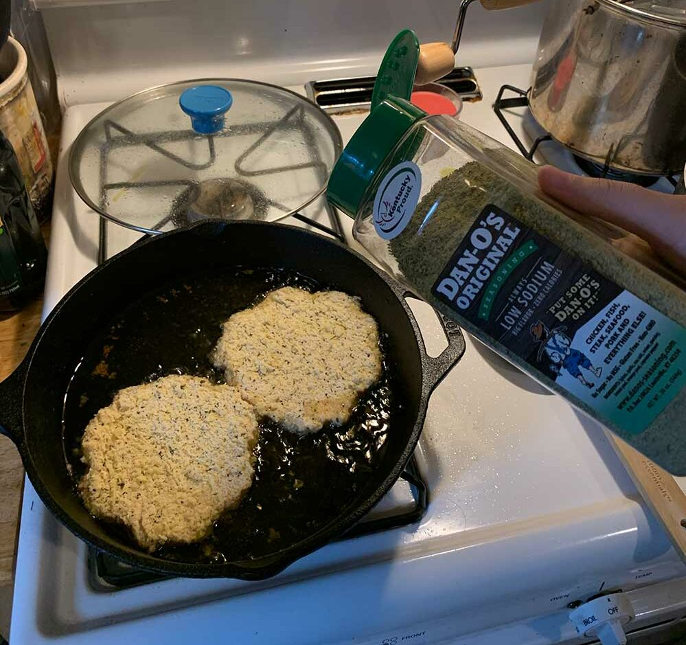 Making Shnitzel with Dan-O's Seasoning