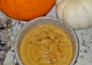 Image of pumpkin soup in a bowl