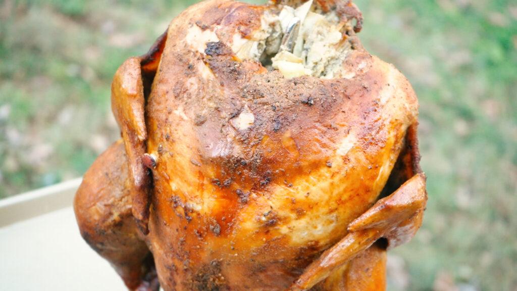 Image of finished turkey recipe
