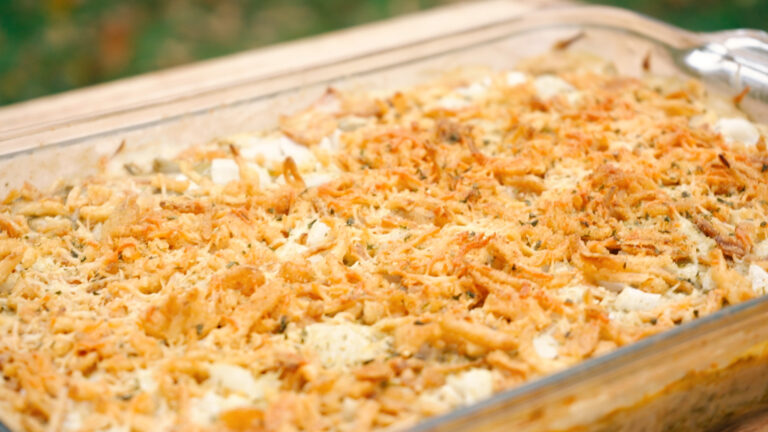 image of cooked green bean casserole