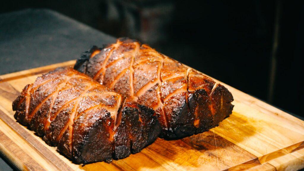 Image of finished smoke bologna chub