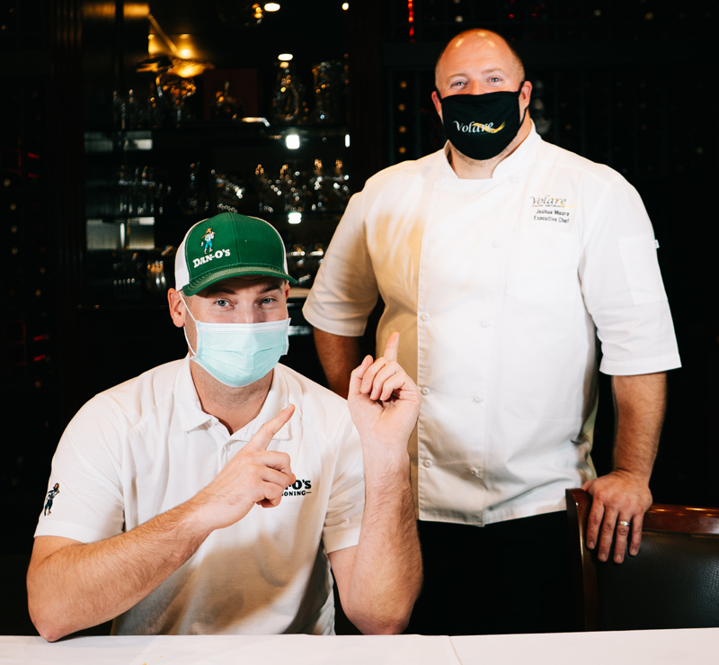 Dan Oliver and Chef Joshua Moore posing for a pic