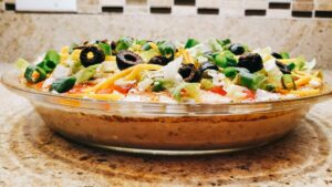 Image of finished taco dip