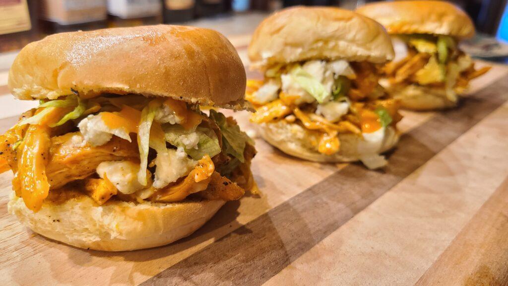 finished Buffalo Chicken Sliders recipe