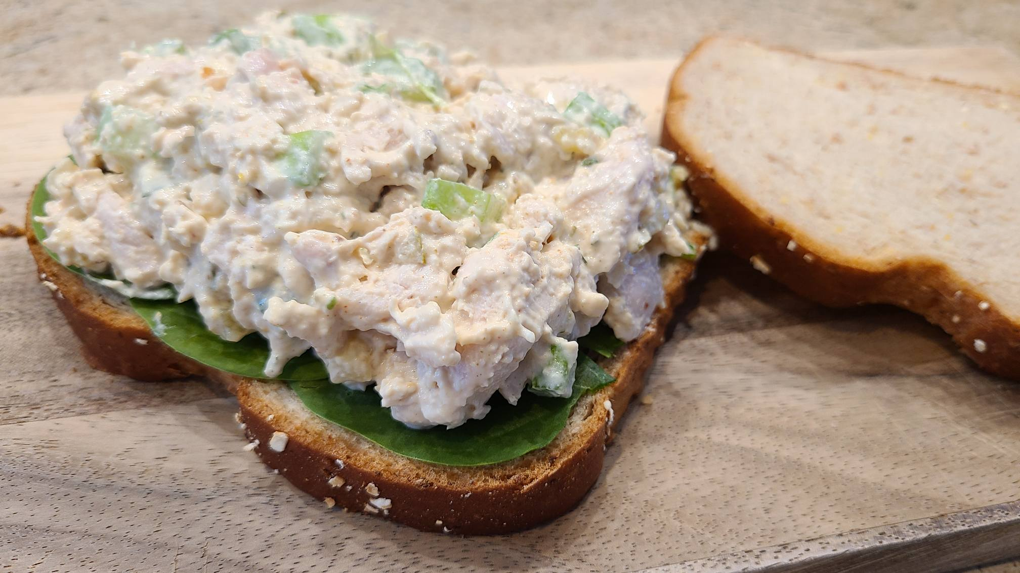 chicken salad sandwiches, ready to eat