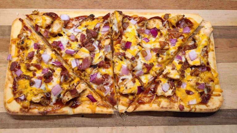 bbq chicken flatbread recipe ready to eat