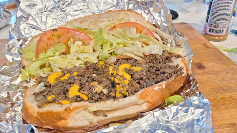 Chopped Cheese Sandwich ready to eat