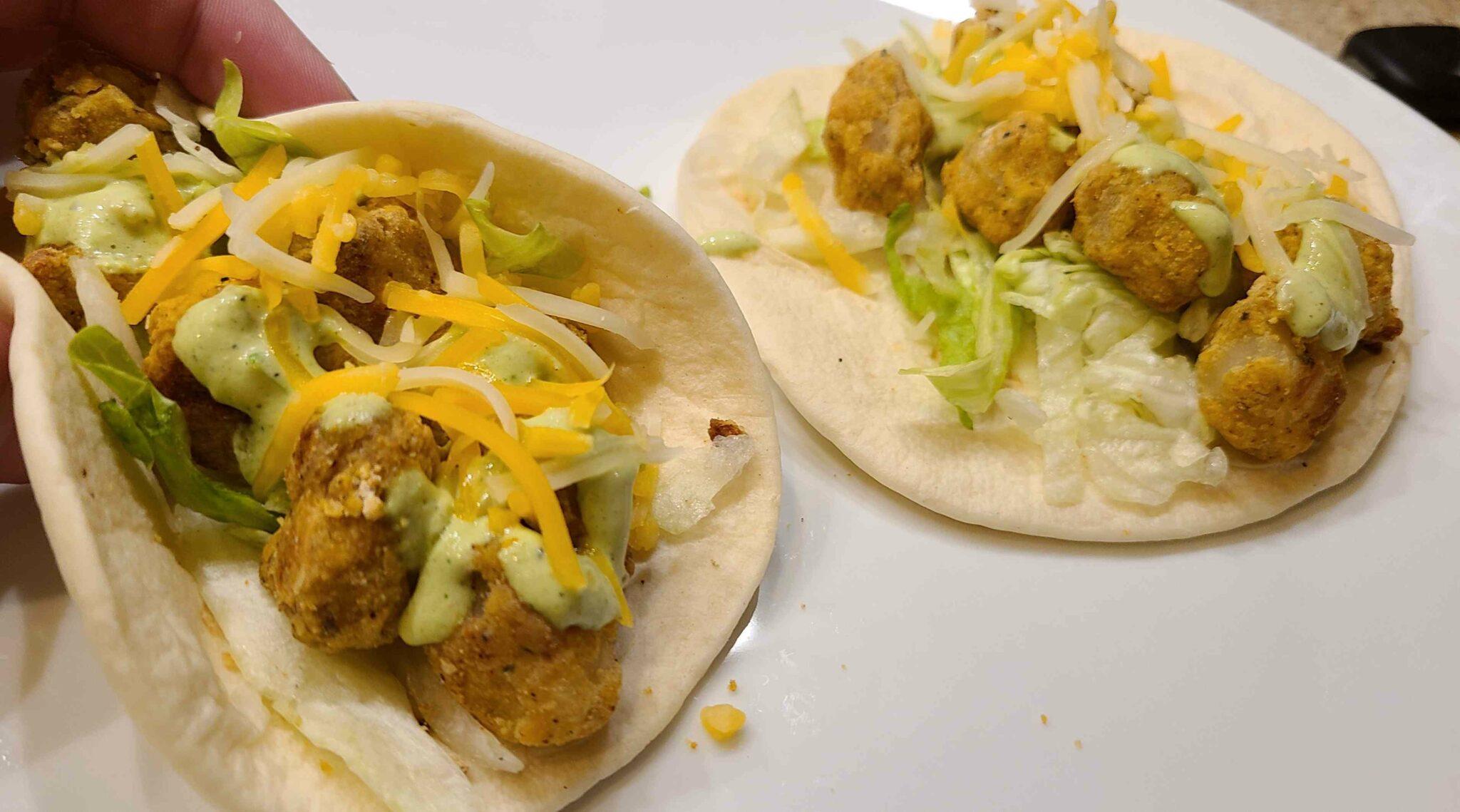 potato tacos seasoned with Dan-O's