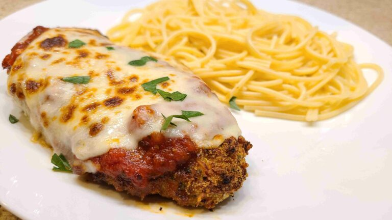 Chicken Parmesan with spaghetti