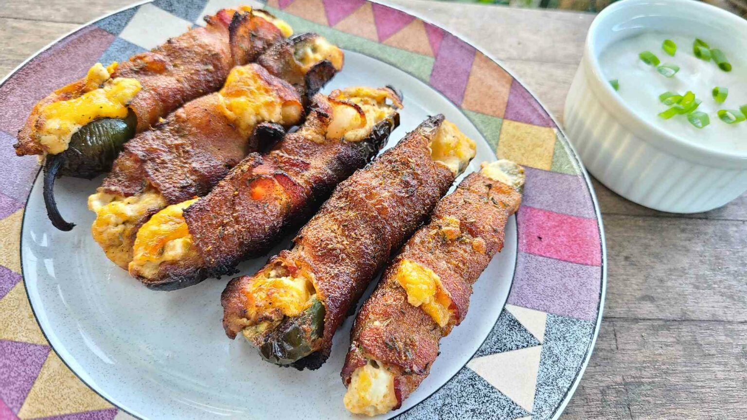 bacon wrapped jalapeno poppers with ranch
