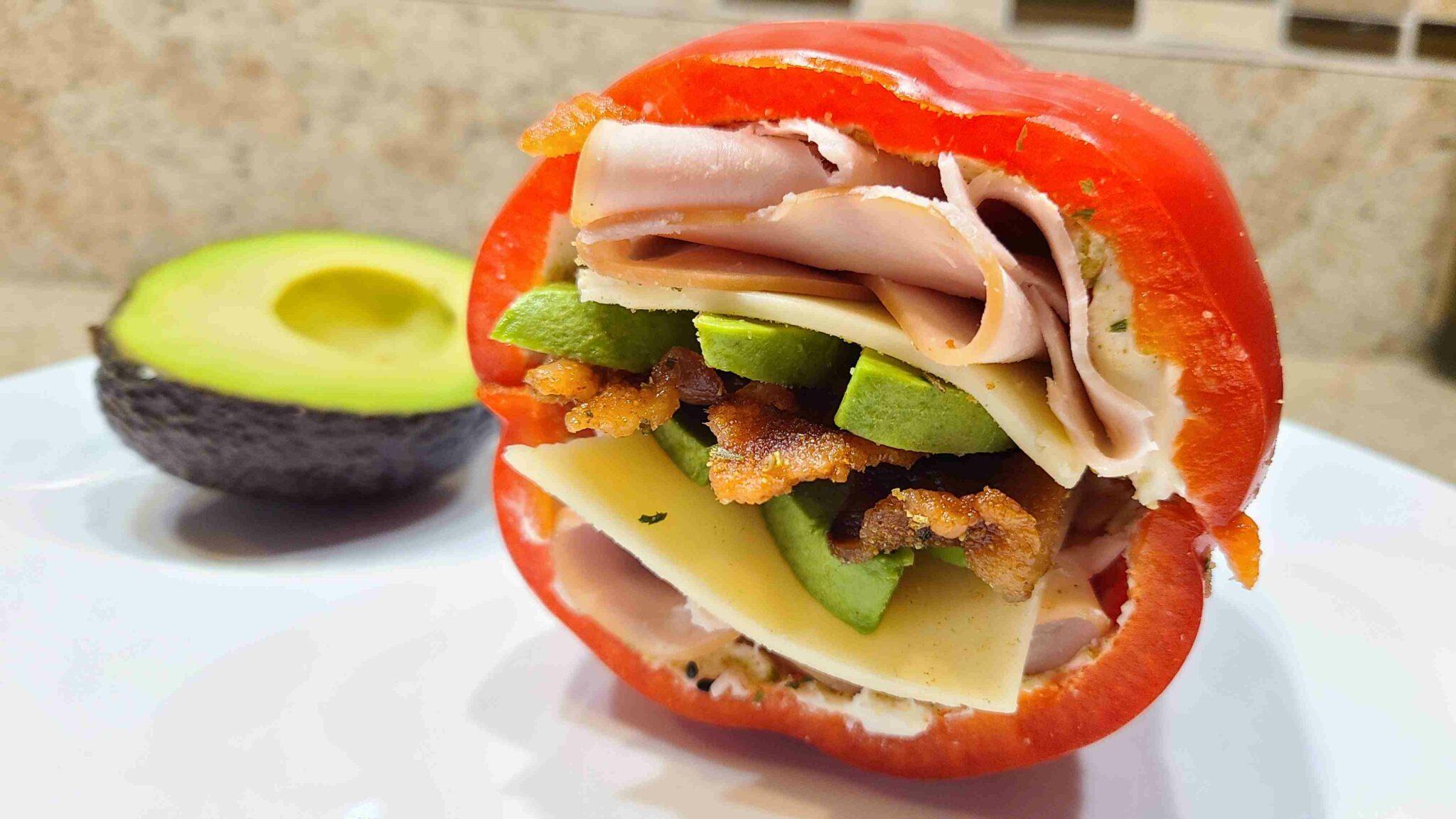 Bell Pepper Sandwich with avocado