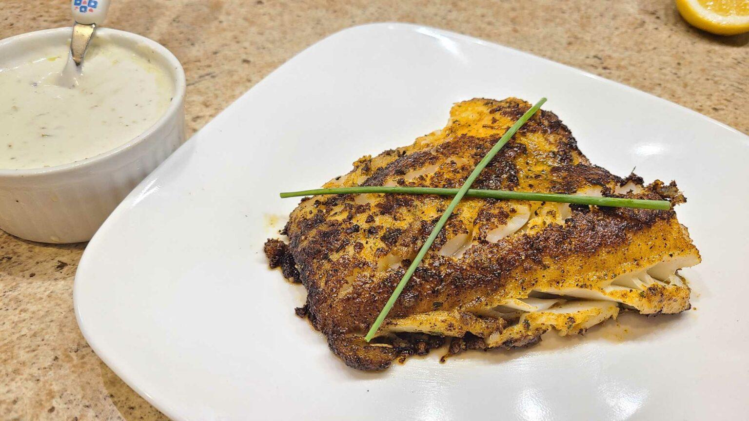 Blackened Cod Recipe With White Sauce
