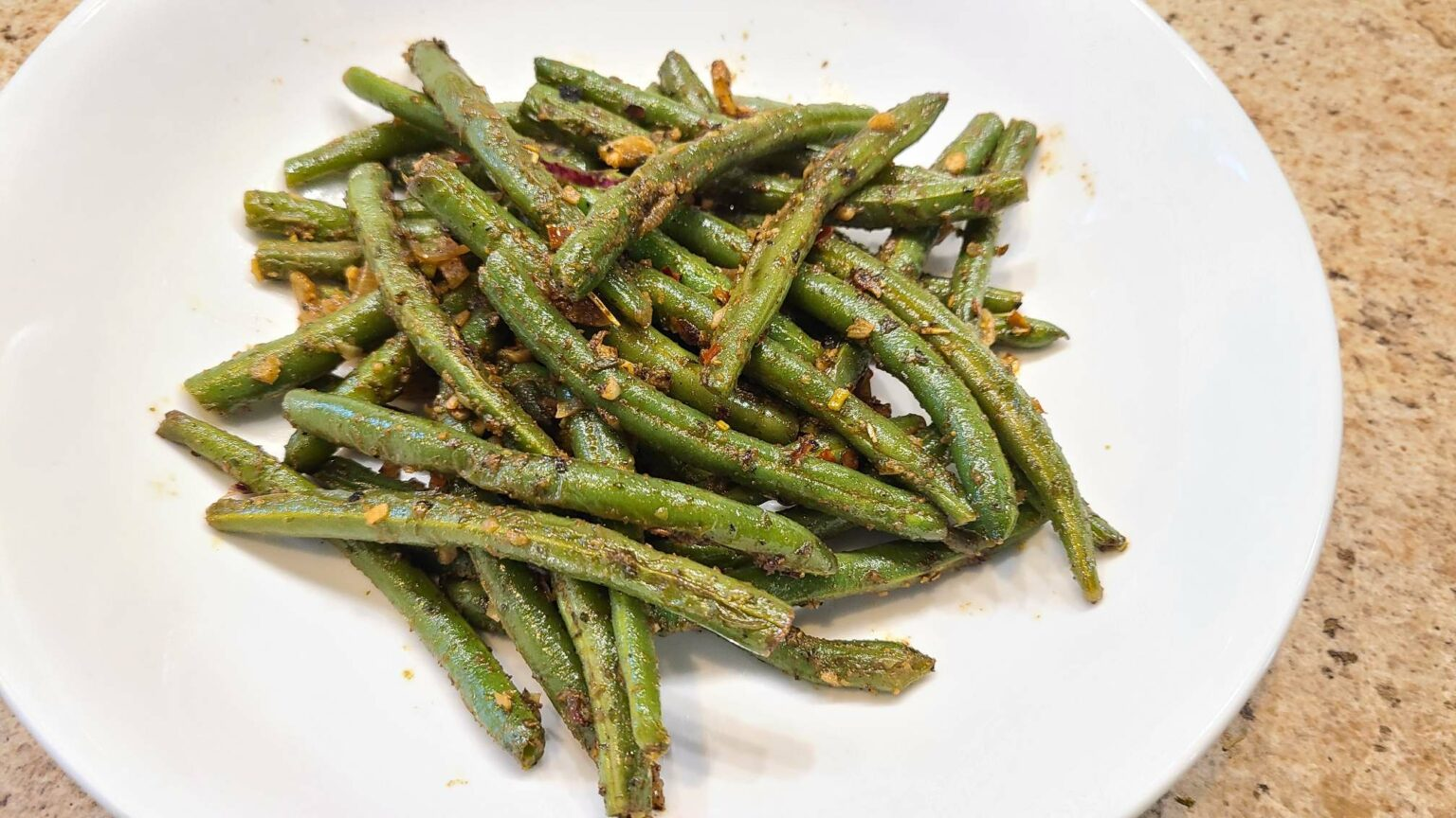 pan grilled green beans