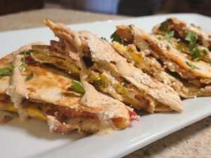 Chipotle Breakfast Quesadillas on a plate