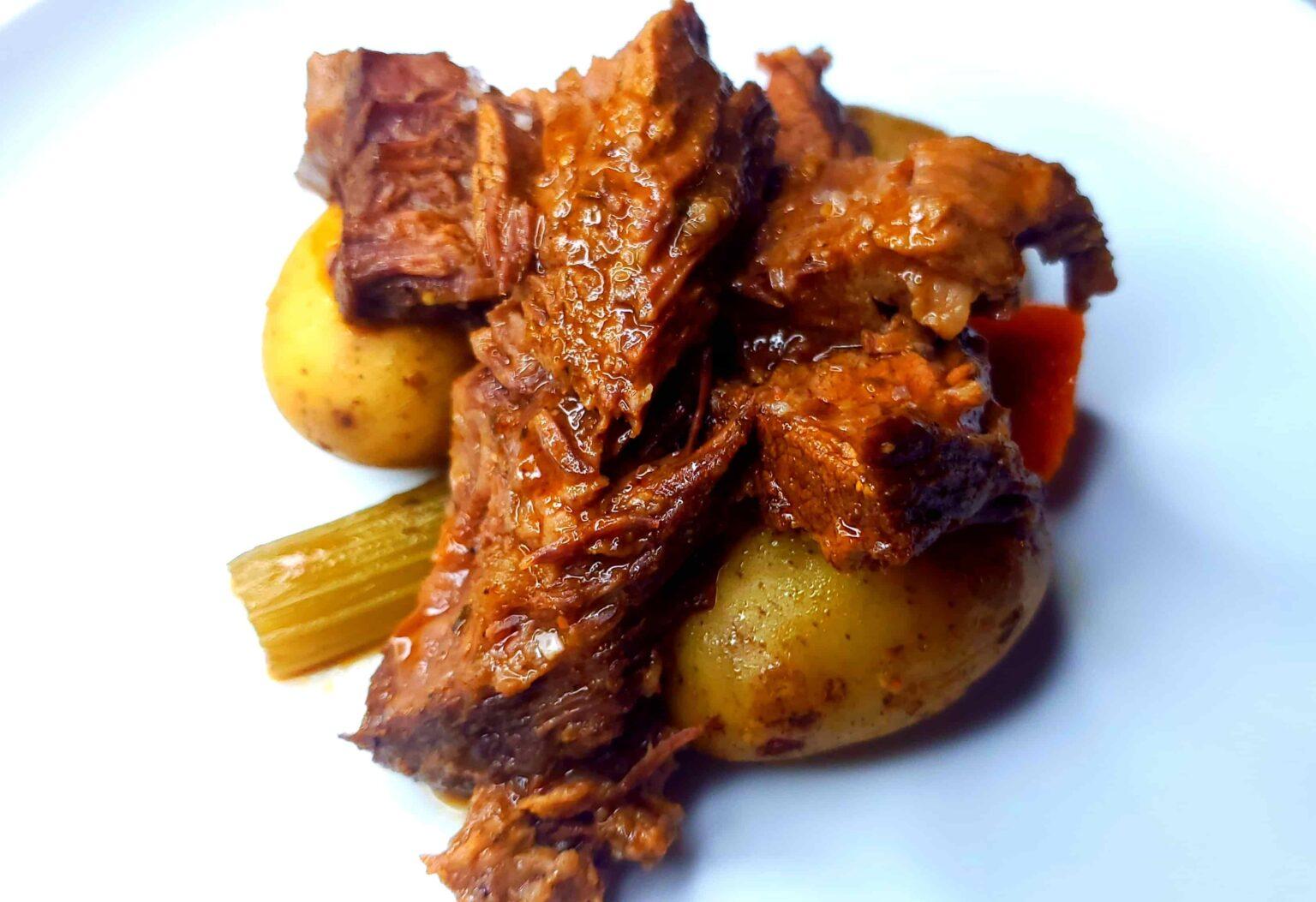 Fancy Pot Roast on a plate