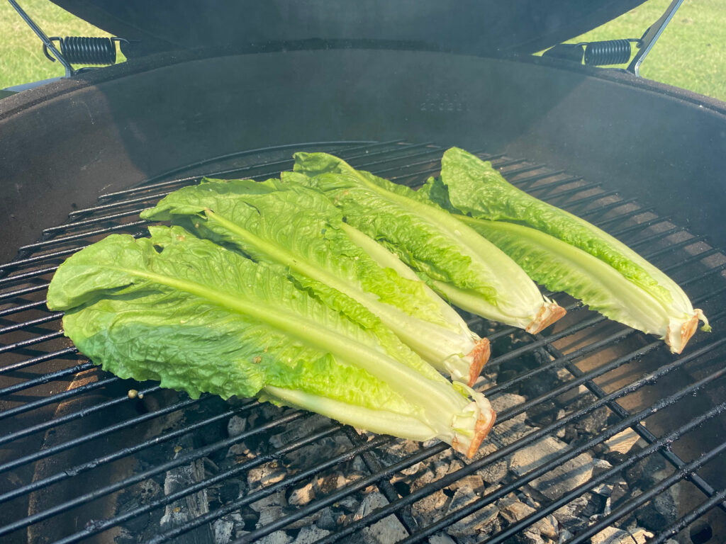 Grilled Romaine Recipe on the grill
