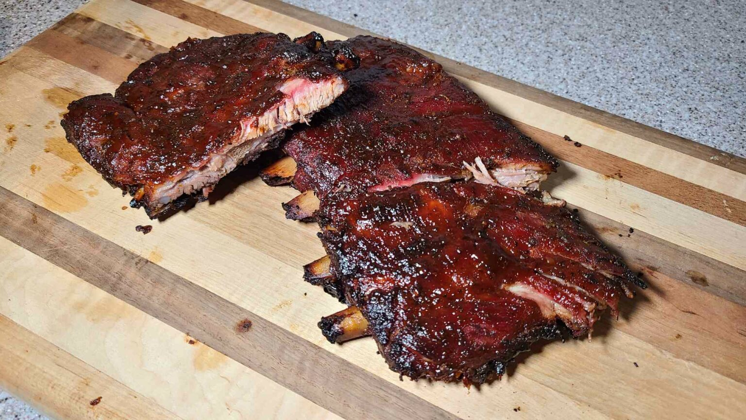 St Louis Style Ribs Cooked and ready to eat