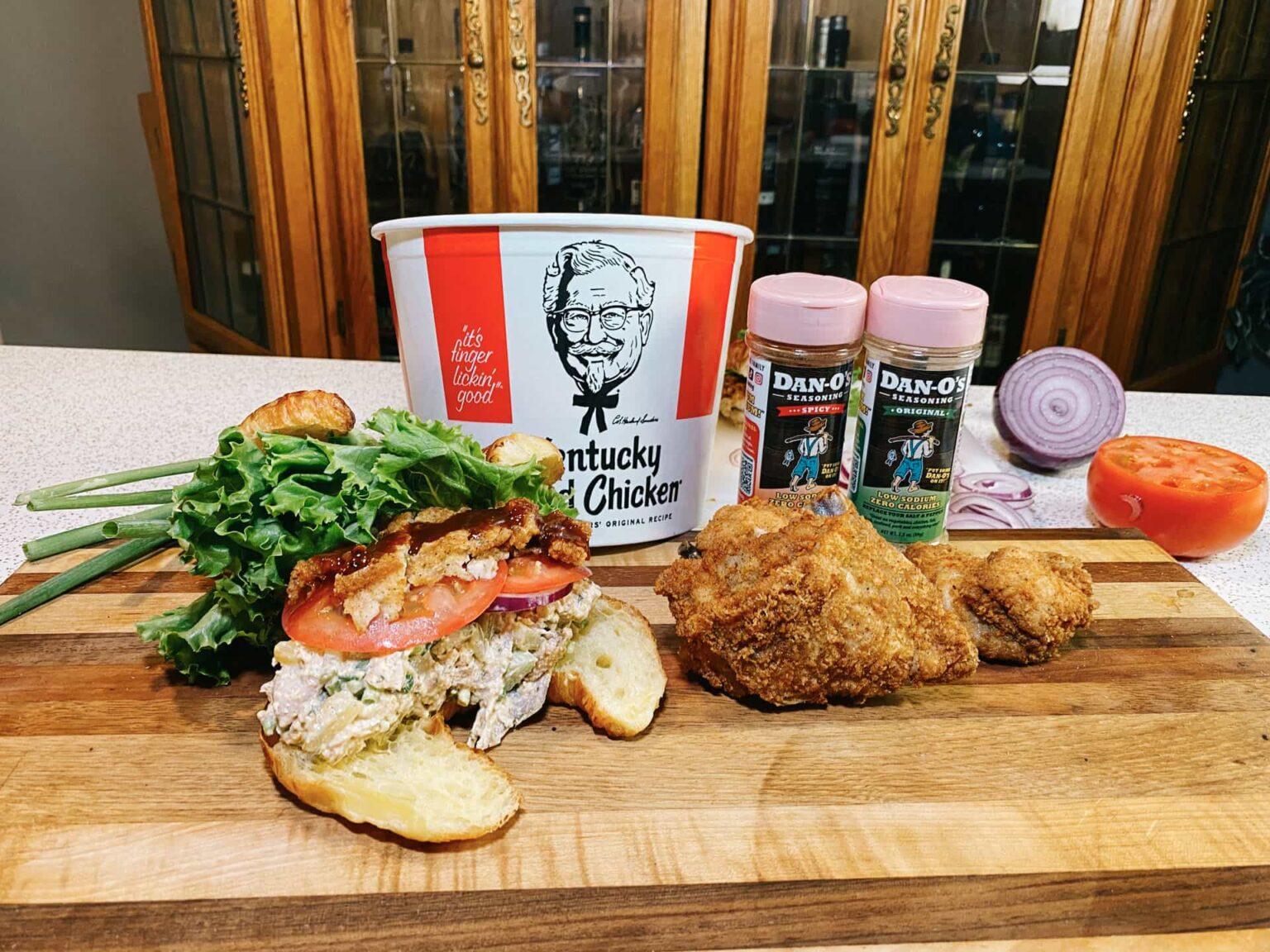 Kentucky Fried Chicken Salad Sandwich